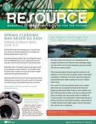 Spring 2013 Resource - the City of San Luis Obispo