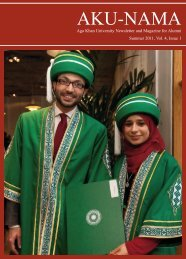 Summer 2011, Vol. 4, Issue 1 - Aga Khan University