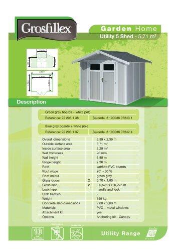 Utility Range - Grosfillex Garden Home