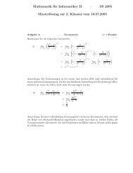 SS 2005 Musterlösung zur 2. Klausur vom 18.07.2005
