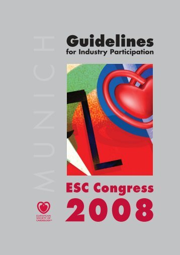 Industry Guidelines - ESC Congress 2008.pdf - ESCexhibition.org, as