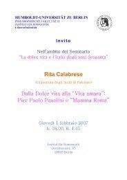 Rita Calabrese - Institut für Romanistik