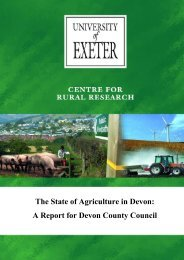 CENTRE FOR RURAL RESEARCH - College of Social Sciences ...