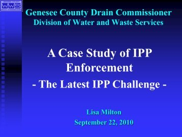A Case Study of IPP Enforcement