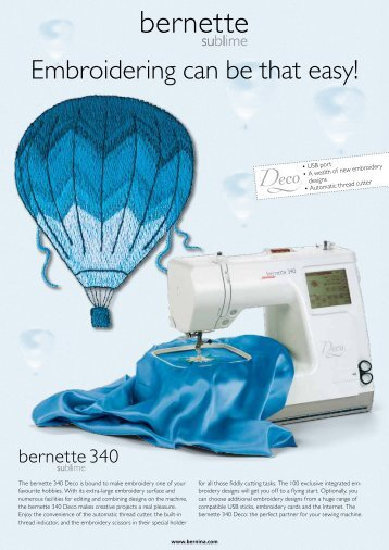 Embroidering can be that easy! - Bernina