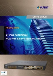Planet FNSW-2400PS User Manual - Use-IP