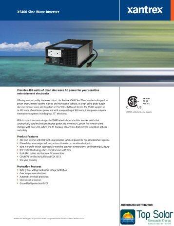 Xantrex XS 400 120-60 Hz - Top Solar