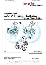 Ersatzteilliste agria® Hydrostatischer Geräteträger Typ 5900 Bison ...