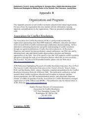 Organizations and Programs - Conflict Resolution Education ...