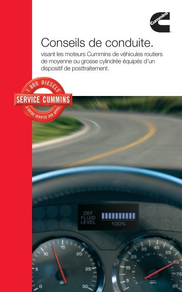 Conseils de conduite. - Cummins Engines