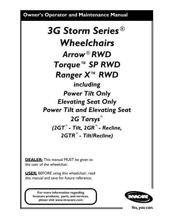 3G Storm Series® Wheelchairs - Scootaround