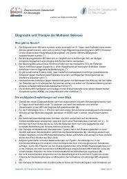 Diagnostik und Therapie der Multiplen Sklerose - Österreichische ...