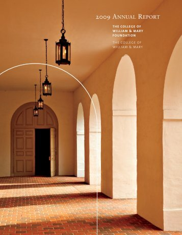 2009 ANNUAL REPORT - College of William and Mary