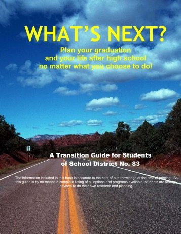 Whats Next Graduation Planner.pdf - School District 83 North ...