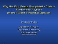 Why Has Dark Energy Precipitated a Crisis in ... - Better Physics