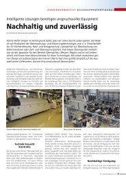 Nachhaltig und zuverlässig - Ersa GmbH