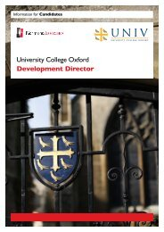 University College Oxford Development Director