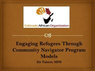 Colorado African Organization - ethniccommunities.org