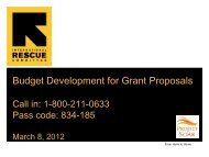 Developing a Budget for Grant Proposal - ethniccommunities.org