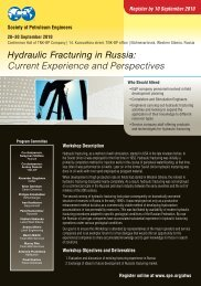 Hydraulic Fracturing in Russia - Society of Petroleum Engineers