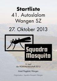 Startliste 41. Autoslalom Wangen SZ 27. Oktober ... - IKSM Motorsport