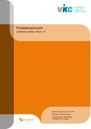 Richtlijn: Prostaatcarcinoom (1.0) - Kwaliteitskoepel