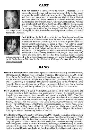 CAST BAND - MetroStage
