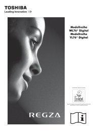 Modellreihe WL76* Digital Modellreihe YL76* Digital - Toshiba-OM.net