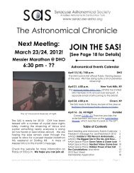 SAS Astronomical Chronicle For Jan/Feb/March 2012 - Syracuse ...