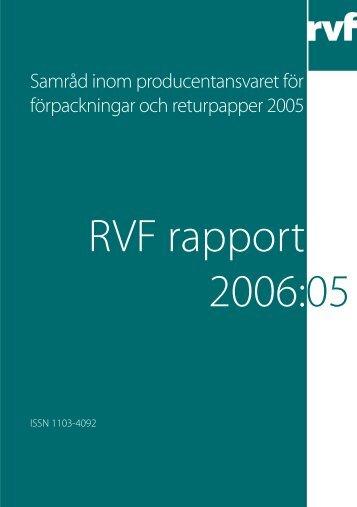 2006:05 Samråd inom producentansvaret för ... - Avfall Sverige