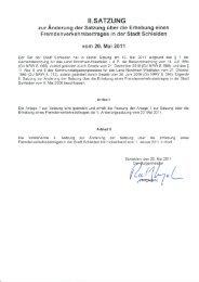 2. Änderung vom 20. Mai 2011 - Stadt Schleiden