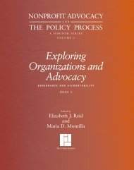Exploring Organizations and Advocacy ... - Tax Policy Center