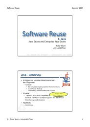 6. Java Java – Einführung - Universität Trier