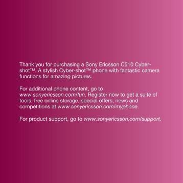 C510 User guide (PDF) - Sony