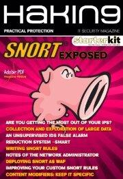 SNORT Exposed Hakin9 StarterKit 01/2010 - Computer Science