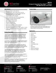 WZ16 Compact Integrated Day-Night™ Camera - Buythis