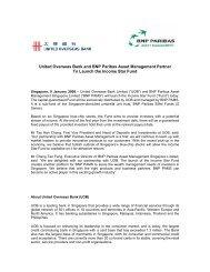 United Overseas Bank and BNP Paribas Asset Management Partner ...