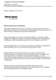 Mindener Tageblatt 07.01.2013 Band des Gymnasiums