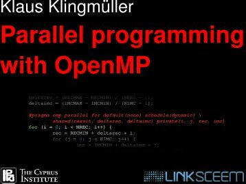 Parallel programming with OpenMP - LinkSCEEM