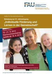 """""""Individuelle Förderung und Lernen in der Gemeinschaft"""" - Institut für ..."""
