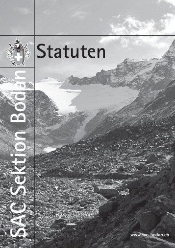 Statuten - SAC Sektion Bodan