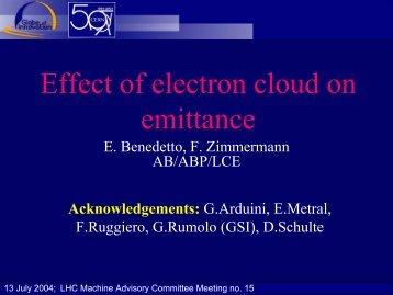 Effect of electron cloud on emittance - LHC Machine Advisory ...