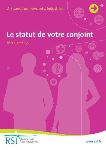 Statut du conjoint - Chambre de métiers et de l'artisanat