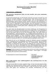 Mandanteninformation Mai 2010 - Zacher & Partner Rechtsanwälte ...