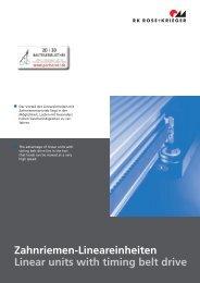 Profil Lineareinheit PLZ-II Profile linear unit PLZ-II