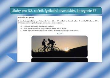 Úlohy pro 52. ročník fyzikální olympiády, kategorie EF