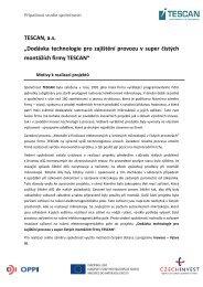 """TESCAN, a.s. """"Dodávka technologie pro zajištění ... - CzechInvest"""