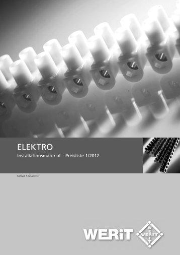 Elektro-Preisliste 2011.indd - Werit Kunststoffwerke W. Schneider ...