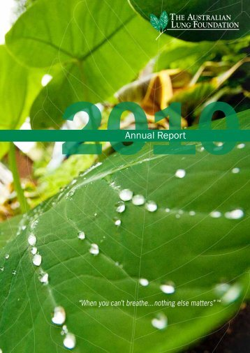 2010 Annual Report - Lung Foundation