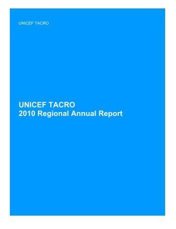 DRAFT 2010 UNICEF TACRO Regional Annual Report